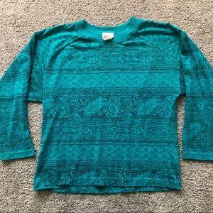P.S. Sport Vintage Crew Neck 3/4 Sleeve Sweater